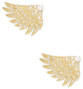 Mizuki 14K Gold Double Wings Earrings