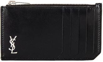 Saint Laurent Credit Card Holder in Black | FWRD
