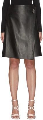 Bottega Veneta Lambskin leather wrap skirt
