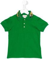 Gucci Kids - GG Bengal tiger collar polo shirt - kids - Cotton/Spandex/Elastane - 12 yrs