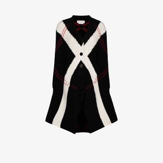 Alexander McQueen Chunky Knit Wool Cardigan