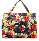 Chanel Multicolor Quilted Canvas Camellia Tote Bag