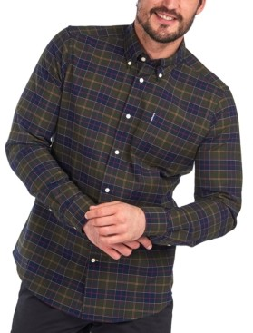 Barbour Men's Tartan Plaid Oxford Shirt