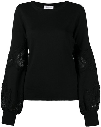Blumarine Lace-Inserts Knit Jumper