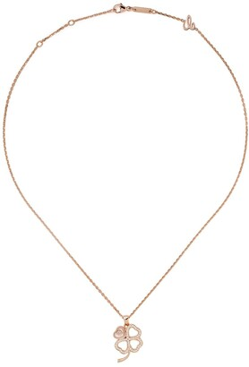 Chopard 18kt rose gold Good Luck Charms diamond necklace