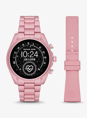 Michael Kors Gen 5 Bradshaw Blush-Tone Aluminum Smartwatch - Pink