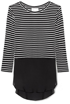 Vince Camuto Two by Striped Mixed-media Tunic
