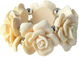 Cream flower stretch bracelet