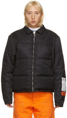 Heron Preston Black Quilted Nylon Puffer Jacket