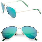Polaroid 52mm Mirrored Aviator Sunglasses