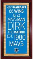 "Steiner Sports Dallas Mavericks 32"" x 16"" Vintage Subway Sign"