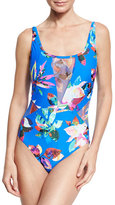LaBlanca La Blanca Havana Tropics One-Piece Swimsuit, Blue