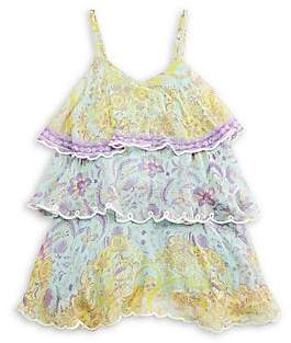 HEMANT AND NANDITA Little Girl's & Girl's Floral Tiered Ruffle Dress