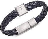 Steve Madden Men's Leather Braided Bracelet