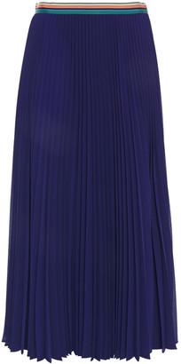 Paul Smith Plisse-gauze Midi Skirt
