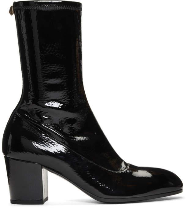 72c557424f63f Black Patent Printyl Boots