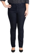 NYDJ 'Marilyn' Stretch Straight Leg Jeans (Dark Blue) (Petite Plus)