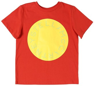 Stella McCartney Kids Logo Printed Organic Cotton T-shirt