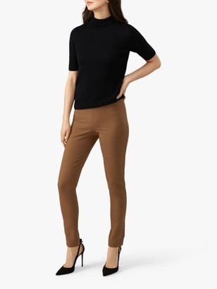 Pure Collection Cotton Stretch Trousers, Camel