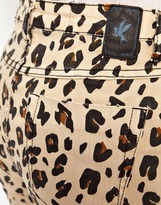 One Teaspoon Dixies High Waist Jeans in Leopard Print