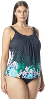 CoCo Reef Plus Size Tropical Escape Ultra Fit Tankini Top (C/D/DD Cup) 8151305
