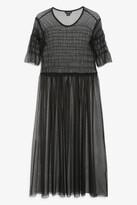 Monki Sheer tiered dress