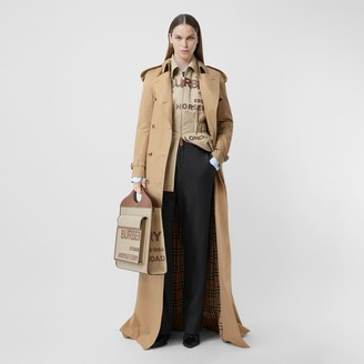 Burberry Extra Long Cotton Gabardine Trench Coat