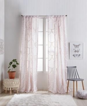 """Peri Home Chenille Scallop 50""""x95"""" Backtab Window Panel Bedding"""