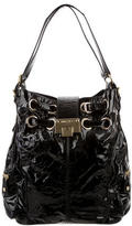 Jimmy Choo Patent Leather Riki Hobo