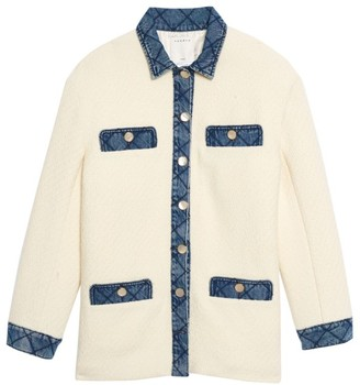 Sandro Chelby Contrast Button-Up Jacket
