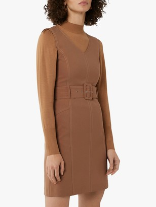 Warehouse Contrast Dress, Camel