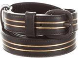 Bottega Veneta Leather Buckle Waist Belt
