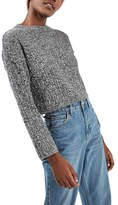 Topshop Women's Marled Crop Sweater