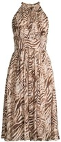 Elie Tahari Dominica Animal Print Halterneck Dress