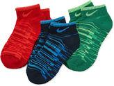 Nike Nike3-Pk. Low Cut Socks- Boys X-Small