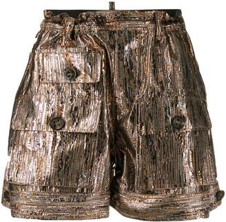DSQUARED2 Metallic Effect Shorts