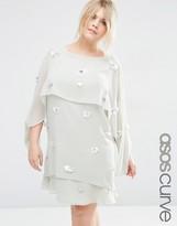 Asos Crop Top Layered Midi Dress with 3D Embellishment