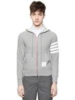 Thom Browne Cotton Fleece Zip Up Sweatshirt