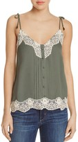 Ella Moss Lace-Trimmed Camisole Top