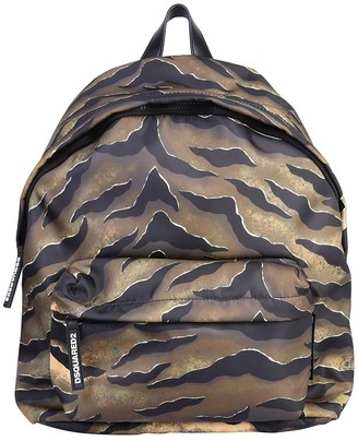 DSQUARED2 Tiger Print Backpack