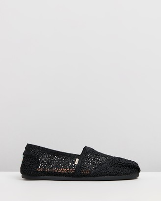 Toms Womens Moroccan Crochet Classic Shoes