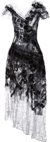 Rodarte Metallic Waxed Lace Dress