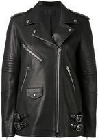Alexander Wang biker jacket - women - Calf Leather/Polyester - 6