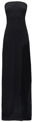 Ann Demeulemeester Side-slit Wool-blend Crepe Dress - Black