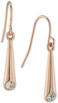Lauren Ralph Lauren Rose Gold-Tone Crystal Linear Drop Earrings