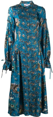 Evi Grintela Love floral tie-cuff shirt dress