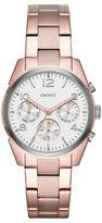 DKNY Crosby Rose Goldtone Stainless Link Bracelet Chronograph, NY2472