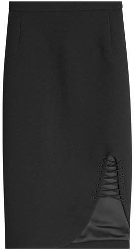 Alexander Wang Pencil Skirt with Lace-Up Detail