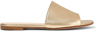 Gianvito Rossi Metallic Leather Slides