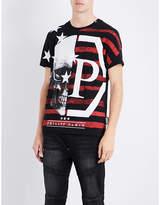 Philipp Plein Skull-embellished Cotton T-shirt